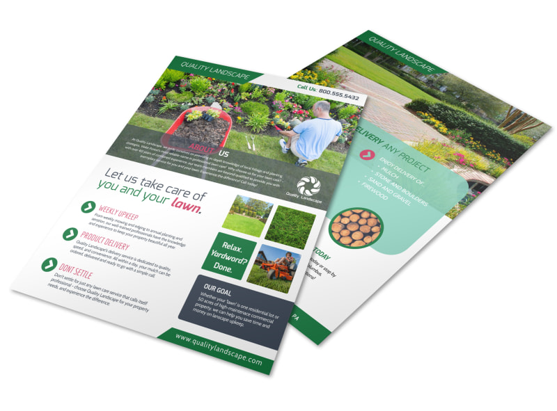 Landscaping  About Us Flyer Template