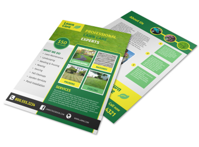 Professional Lawn Care Commercial Flyer Template preview
