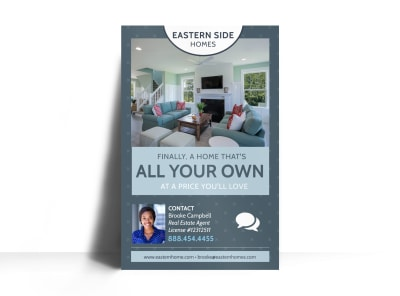 Eastern Side Real Estate Poster Template preview