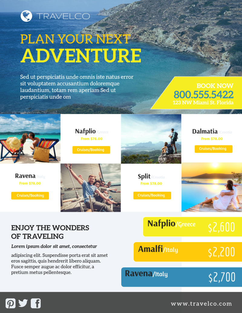 Plan Your Next Adventure Travel Agency Flyer Template Preview 2