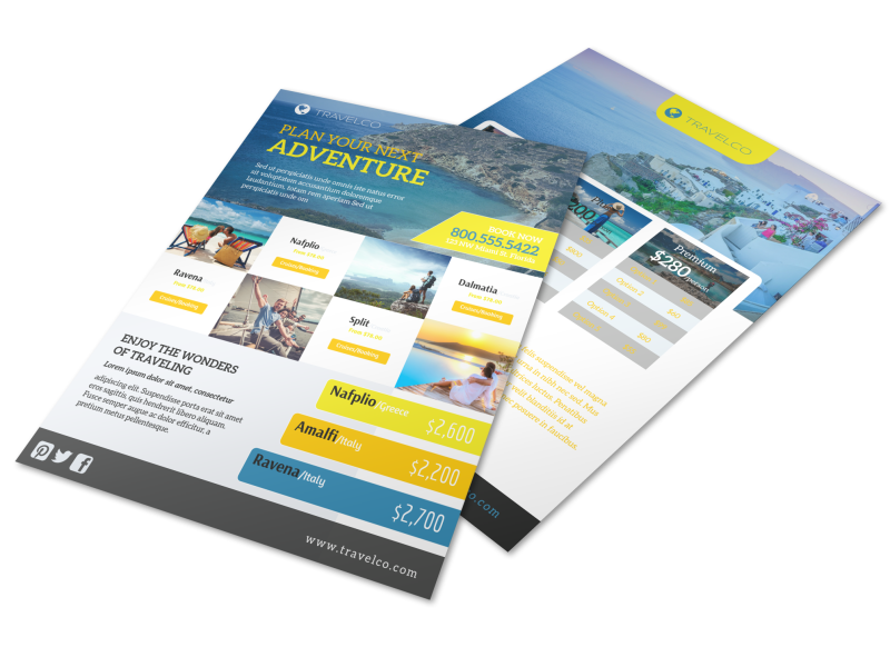 Plan Your Next Adventure Travel Agency Flyer Template Preview 1