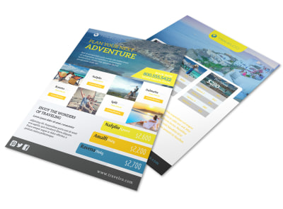 Plan Your Next Adventure Travel Agency Flyer Template
