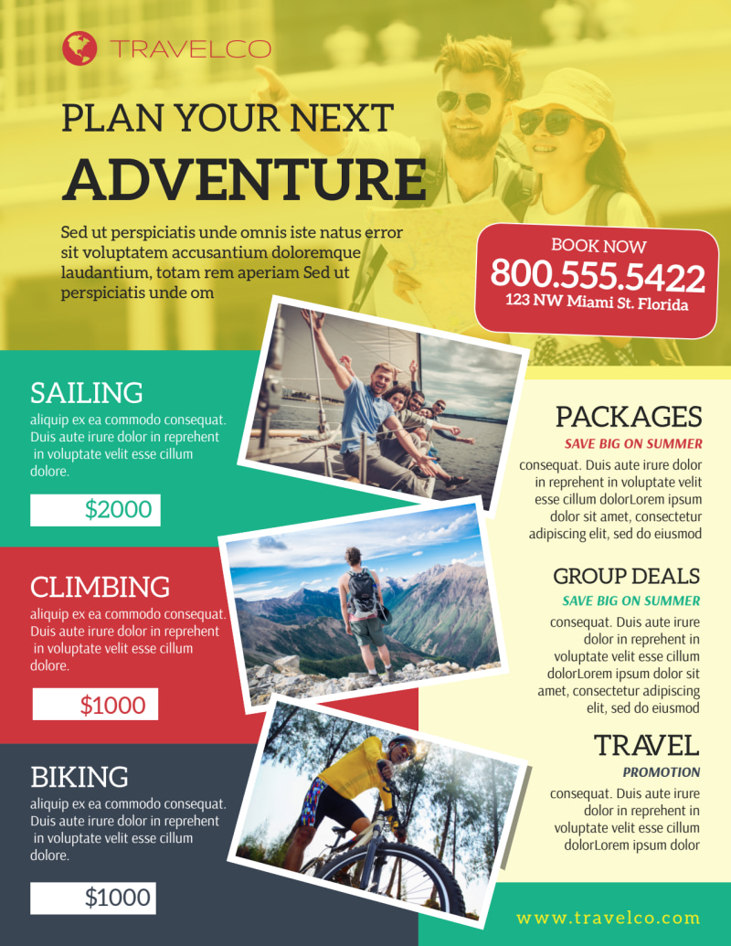 Stunning Travel Activities Flyer Template Preview 2
