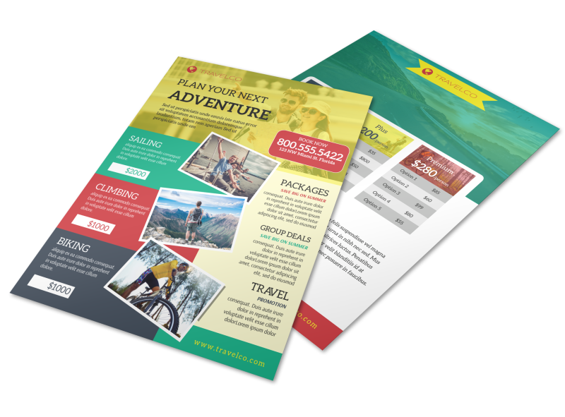Stunning Travel Activities Flyer Template Preview 1