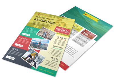 Stunning Travel Activities Flyer Template preview
