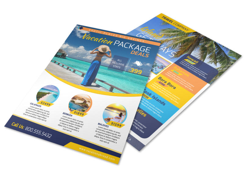 Vacation Packages Flyer Template Preview 4