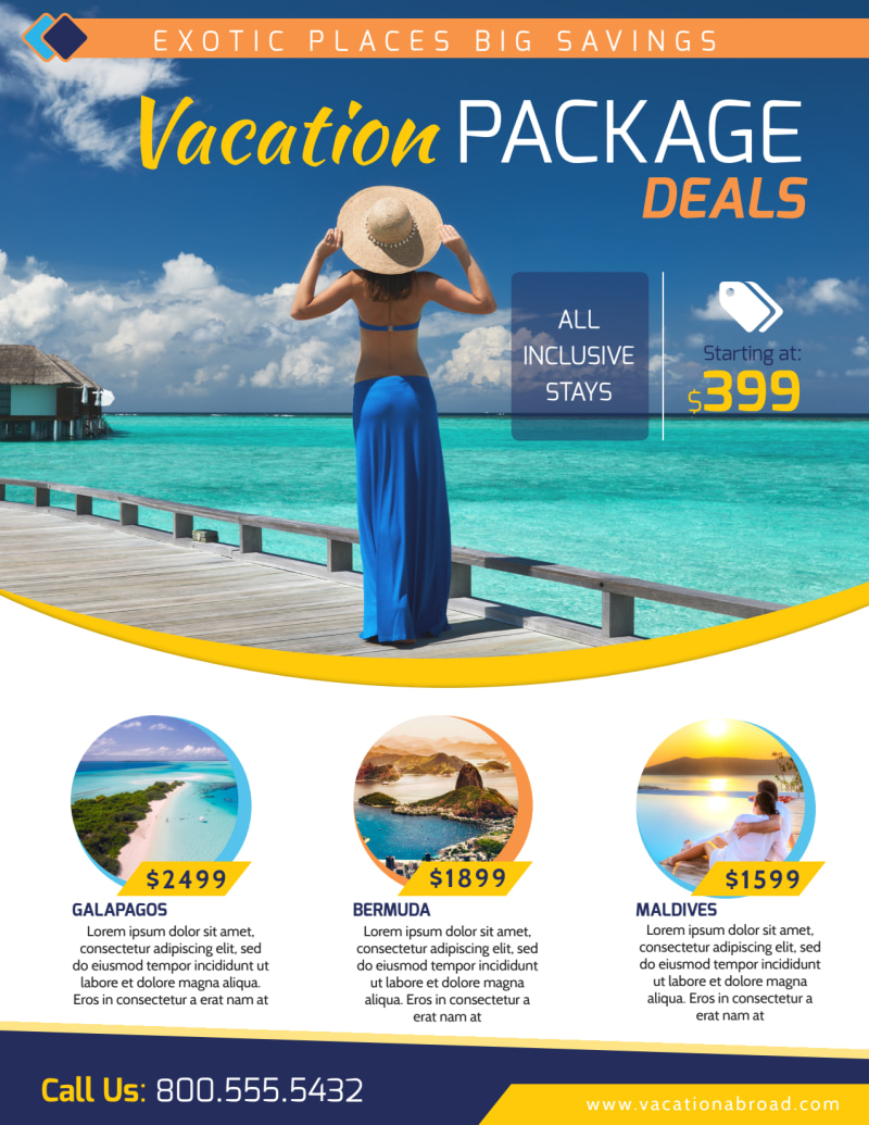Vacation Packages Flyer Template Preview 2