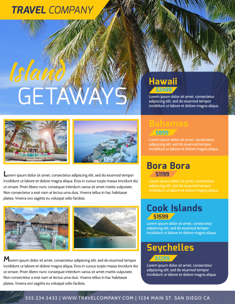 Vacation Packages Flyer Template Preview 3