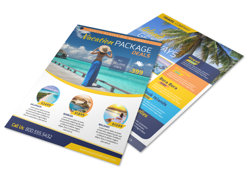 Vacation Packages Flyer Template Preview 1