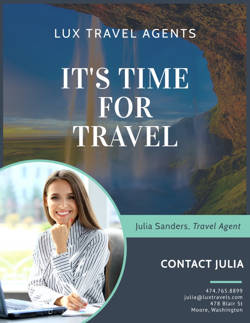 Meet Our Travel Agent Flyer Template Preview 2