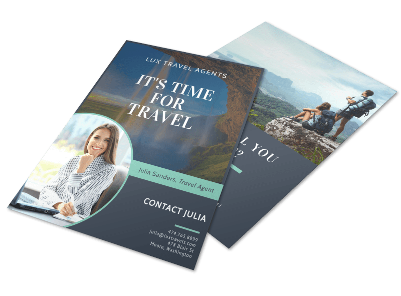 Meet Our Travel Agent Flyer Template Preview 1