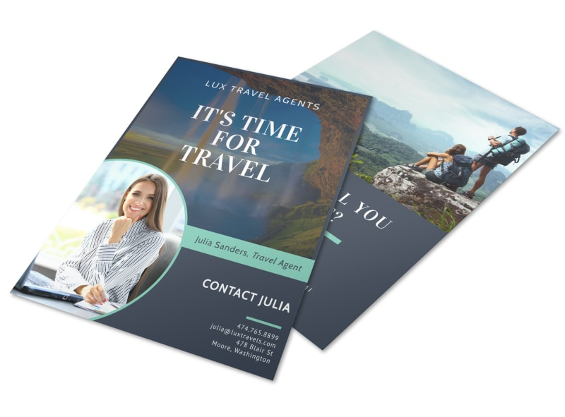 Meet Our Travel Agent Flyer Template