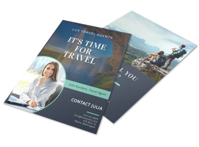 Meet Our Travel Agent Flyer Template preview