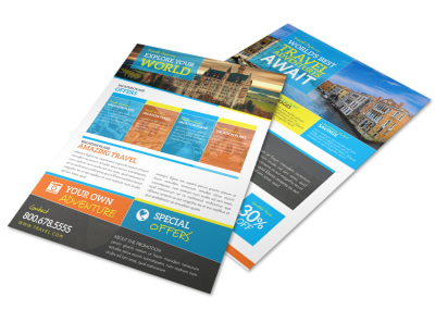 World Special Travel Offer Flyer Template