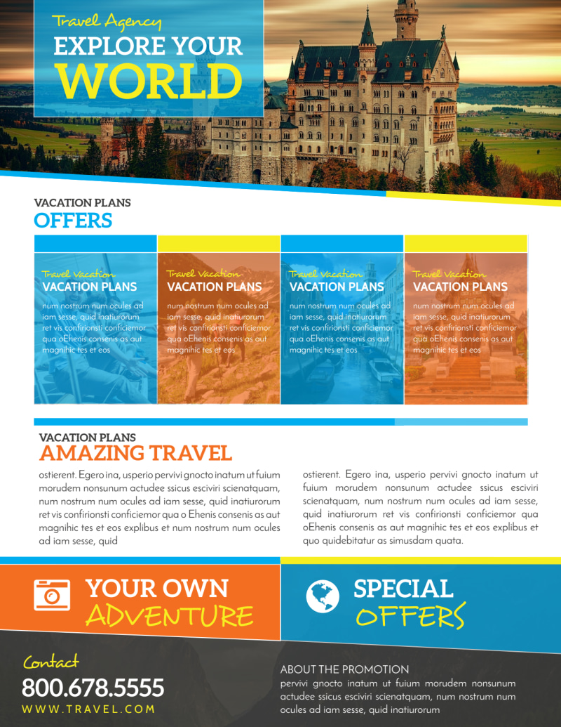 World Special Travel Offer Flyer Template Preview 2