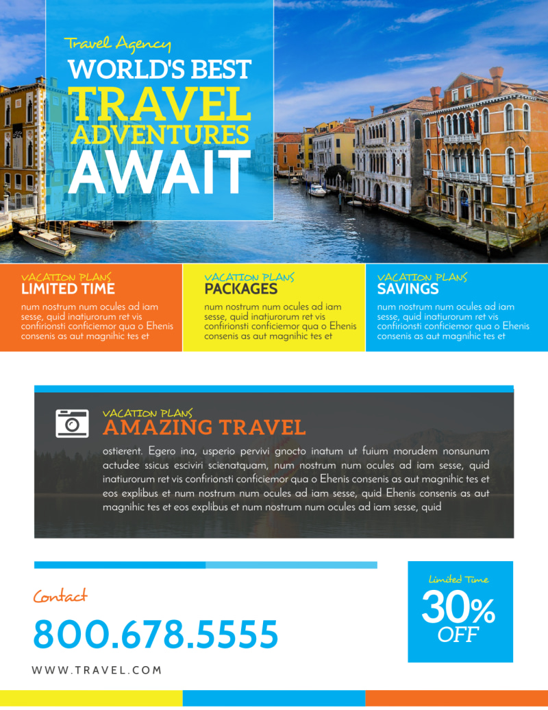 World Special Travel Offer Flyer Template Preview 3