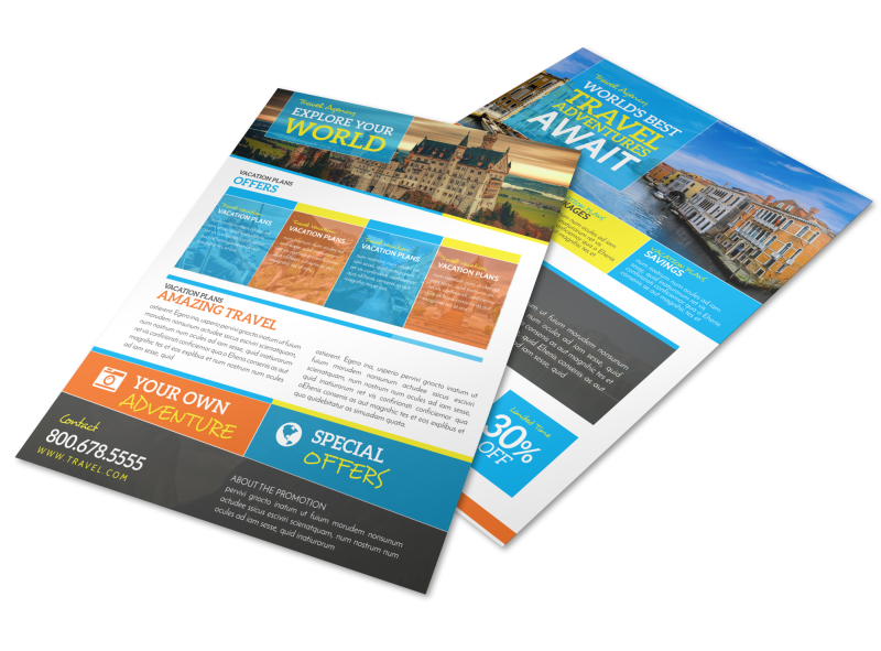 World Special Travel Offer Flyer Template Preview 1