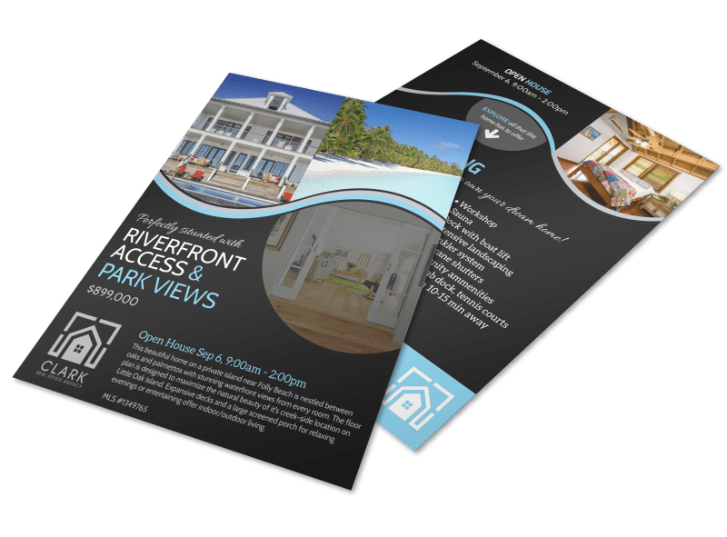 Island Living Open House Flyer Template Preview 1