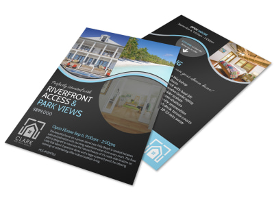 island living open house flyer template
