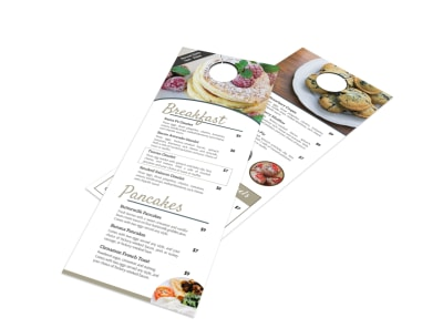 Hotel Breakfast Menu Door Hanger Template preview