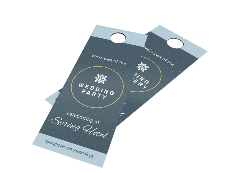 Hotel Wedding Party Door Hanger Template  Mycreativeshop