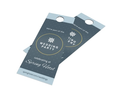 Hotel Wedding Party Door Hanger Template preview