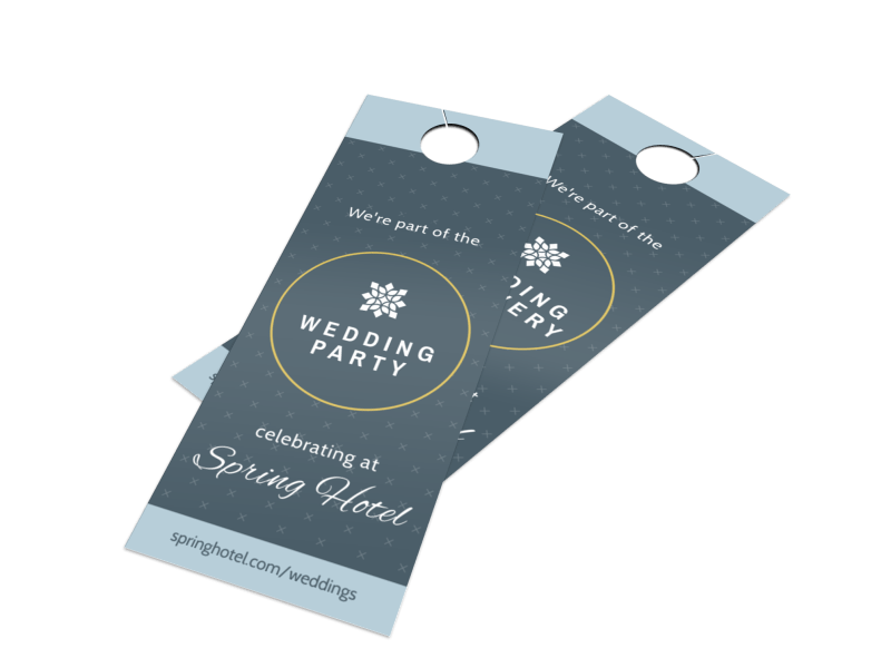 Hotel Wedding Party Door Hanger Template Preview 1