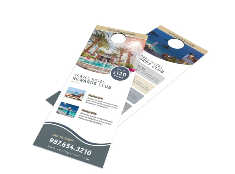 Hotel Rewards Program Door Hanger Template MyCreativeShop - Hotel door hanger template