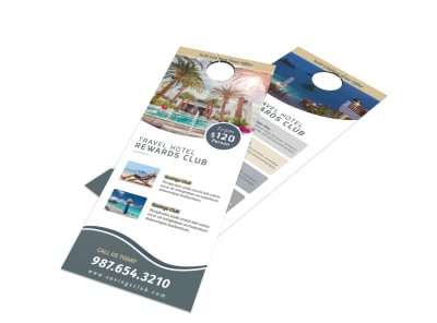 Hotel Rewards Program Door Hanger Template preview