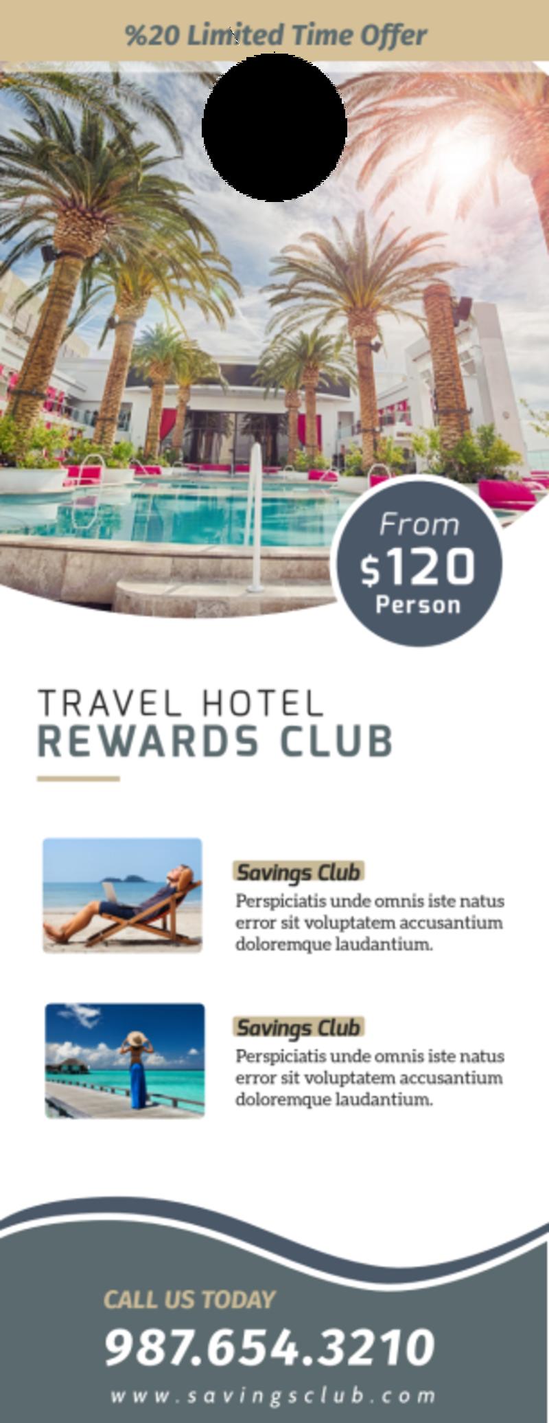 Hotel Rewards Program Door Hanger Template Preview 2