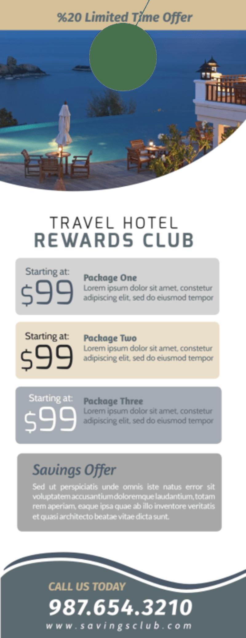 Hotel Rewards Program Door Hanger Template Preview 3
