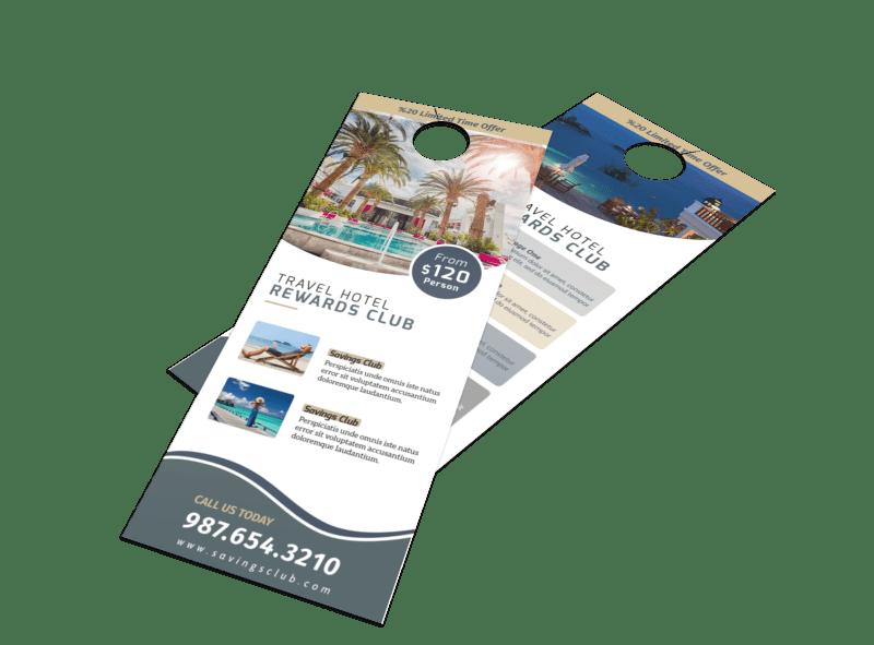Hotel Rewards Program Door Hanger Template Preview 1