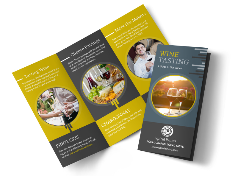 Wine Tasting Tri-Fold Brochure Template Preview 4