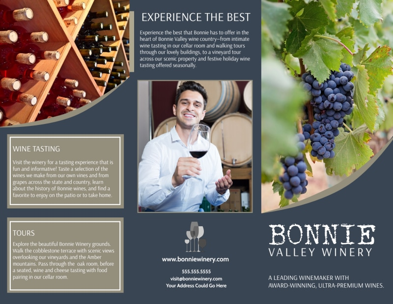 Bonnie Valley Winery Tri-Fold Brochure Template Preview 2