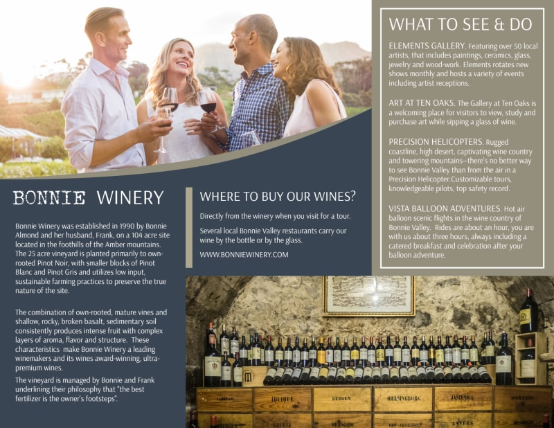 Bonnie Valley Winery Tri-Fold Brochure Template Preview 3
