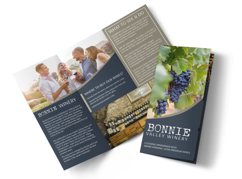 Bonnie Valley Winery Tri-Fold Brochure Template Preview 1