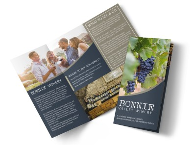Bonnie Valley Winery Tri-Fold Brochure Template preview