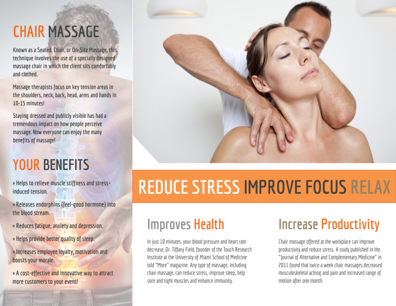 Chair Massage Tri-Fold Brochure Template Preview 3