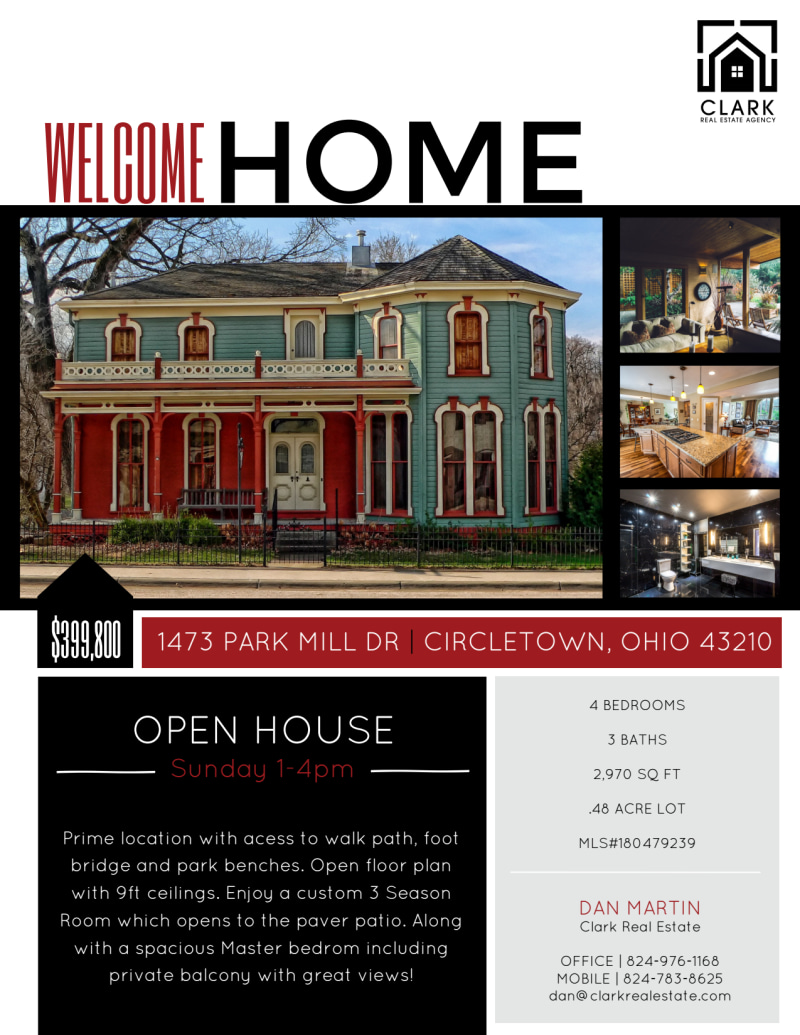 Welcome Home Open House Flyer Template Preview 2