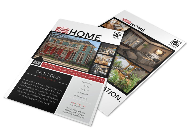 Welcome Home Open House Flyer Template Preview 1
