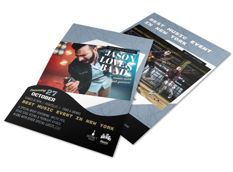 New York Upcoming Music Event Flyer Template
