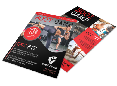 Boot Camp Fitness Promo Flyer Template