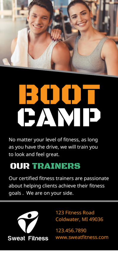 Fitness Boot Camp Flyer Template Preview 2