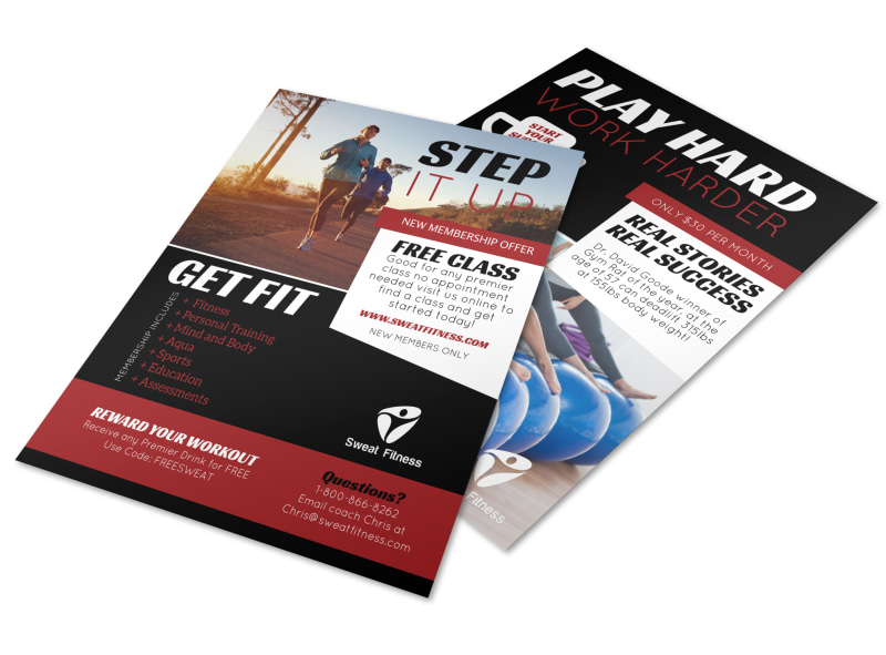Step Up Fitness Membership Flyer Template