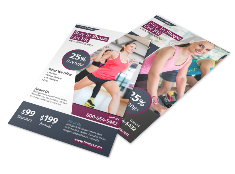 Fitness Membership Details Flyer Template