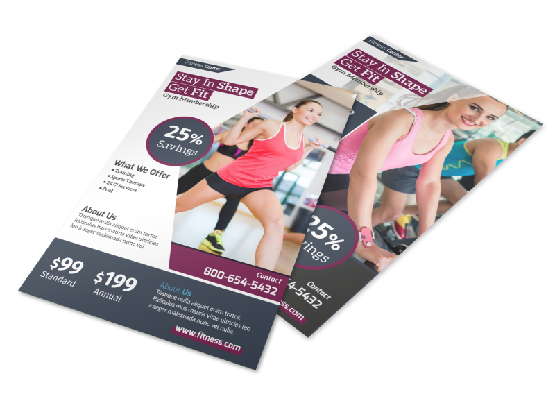 Fitness Membership Details Flyer Template Preview 1