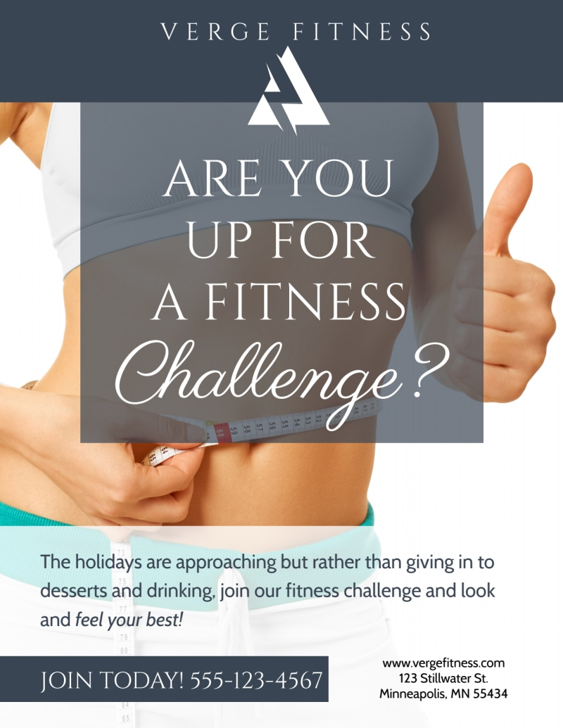 Fitness Challenge Flyer Template Preview 2