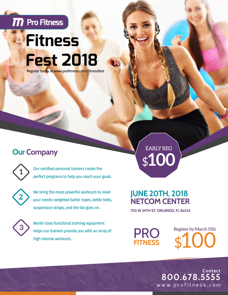 Fitness Fest Event Flyer Template Preview 2