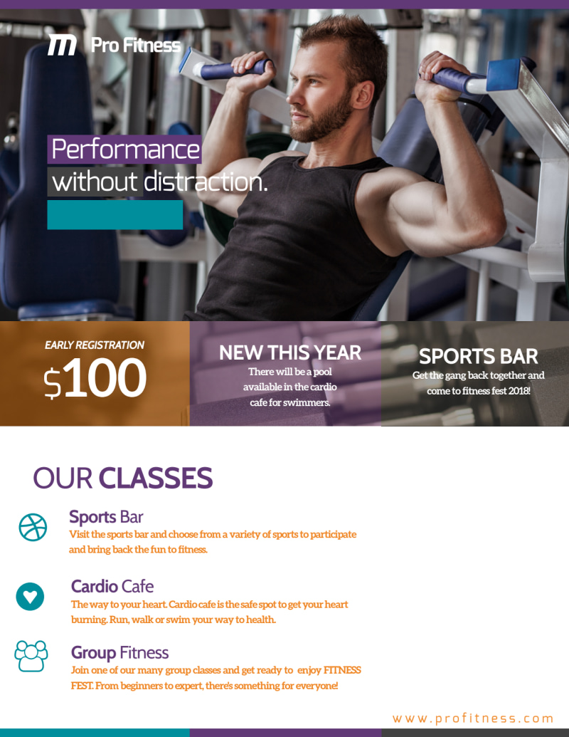 Fitness Fest Event Flyer Template Preview 3