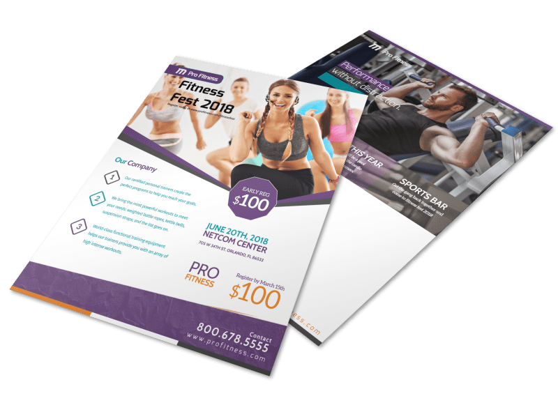 Fitness Fest Event Flyer Template Preview 1